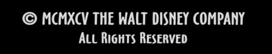 Copyright notice for the Walt Disney Company